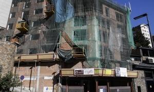 Edificis d'habitatges en construcció al centre del Principat.