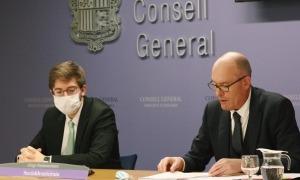 Roger Padreny i Quim Miró van presentar ahir amb Susanna Vela les esmenes del PS al projecte de pressupost per al 2021.