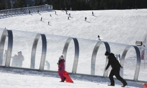 Les pistes d'esquí de Pal, a la zona de la Caubella.