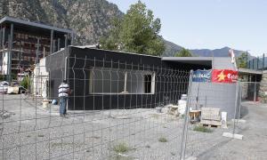D'aquí dos o tres mesos està previst que finalitzin les obres de les pistes de tennis.