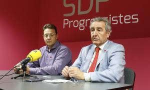 Josep Lluís Donsión i Jaume Bartumeu en una compareixença anterior.
