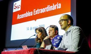 Un moment de l'assemblea del SEP que va tenir lloc ahir.