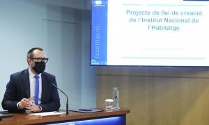 El ministre d'Afers Socials, Habitatge i Joventut, Víctor Filloy, va presentar ahir el projecte de llei de creació de l'INH.