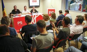 Un moment del 16è congrés ordinari del Partit Socialdemòcrata en què es va validar l'acord amb Liberals d'Andorra.