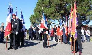 Un moment de l'homenatge a Conxita Grangé a Tolosa de Llenguadoc.