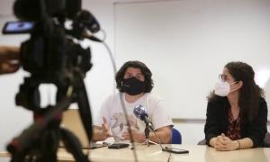 Carles Iriarte i Patricia Bragança han comparegut per presentar l'assemblea oberta de l'Apapma de dijous.