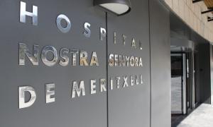 L'entrada a l'Hospital Nostra Senyora de Meritxell.