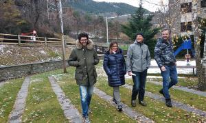 Els candidats de MovemOrdino durant l'acte que van convocar ahir.