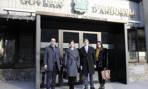 La delegació de l'Oficina per les Institucions Democràtiques i els Drets Humans en la visita a Andorra.