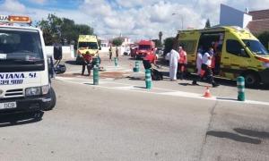 Moment posterior a l'accident a l'avinguda Calespiques.