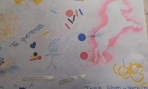 Un dels missatges dels alumnes de segona ensenyança d'Encamp als padrins.