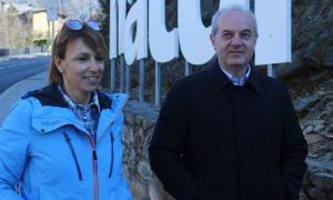 Vicky Grau i Carles Álvarez ahir a Juberri.