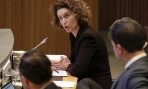 La ministra d'Afers Exteriors, Maria Ubach, en una intervenció al Consell General.