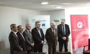 Els presidents de les cambres en la presentació del CCI PirineusMed II ahir a Lleida