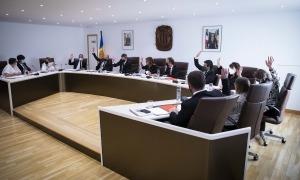 Un instant de la sessió de consell de comú, celebrada ahir, a la sala de Casa Comuna.