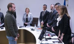 Un moment de la sessió del Comú d'Andorra la Vella, ahir.
