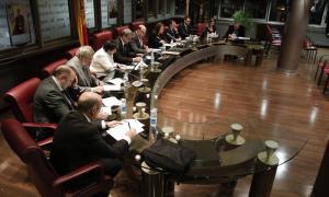 Els cònsols i els consellers de Canillo en una sessió de Comú.