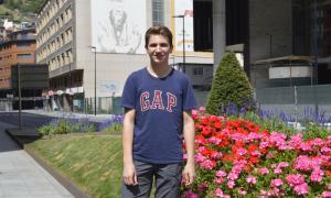 El portaveu de Fridays For Future Andorra, Mateu Bracque