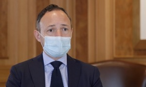 El cap de Govern, Xavier Espot, al seu seu despatx.