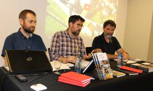 Un moment de la presentació de la guia de la Seu d'Urgell.