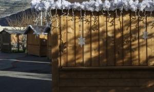 El mercat de Nadal a la Plaça del Poble.