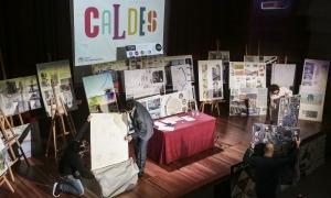La sala d'actes del Comú va acollir l'obertura de plecs del concurs i es van exposar els plafons presentats.