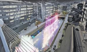 Projecció de la proposta guanyadora del concurs d'idees per a la remodelació de la Rotonda i entorns.