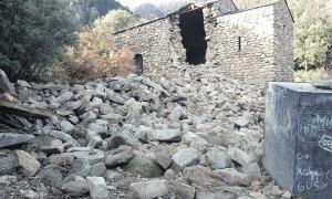 El desgraciat ensorrament de la torre de Sant Vicenç d'Enclar, un desastre que no s'ha de tornar a repetir.