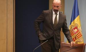 El ministre Joan Martínez Benazet en la compareixença de dilluns.