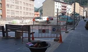 Les obres de la plaça de la Creu Blanca.