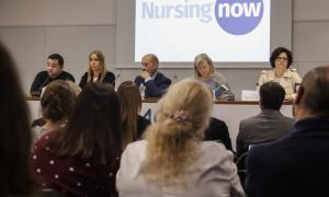 Un moment de la presentació de la campanya Nursing Now.