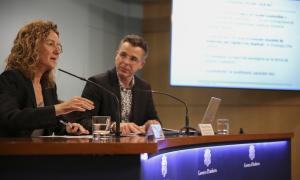 Calvó i Pons van presentar ahir el procés participatiu, ahir.