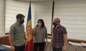 Dos representants del CFPA en la reuníó amb Marín de la setmana passada.