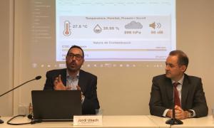 Jordi Ubach i Jordi Nadal, en la presentació de la xarxa ahir al matí.