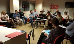 Una reunió anterior del comitè directiu del Partit Socialdemòcrata.