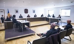 Un moment del Consell de Comú que s'ha celebrat aquest dimecres.