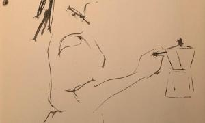 Una de les vinyetes amb escenes quotidianes que l'il·lustrador Perico Pastor penja cada dia a les xarxes.