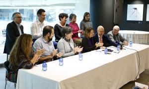 Un instant de la presentació de la llista del PS a Escaldes-Engordany.