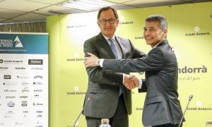 Xavier Cornella i Vicenç Voltes van presentar ahir la 29a Trobada empresarial al Pirineu.
