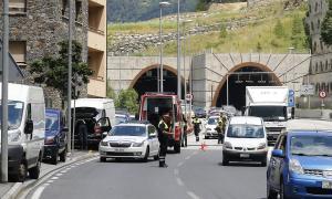 La zona de Valira nova, abans del túnel de la Bartra, on va tenir lloc l'accident.