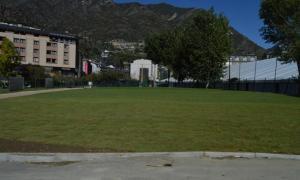 La nova zona verda del Parc Central.