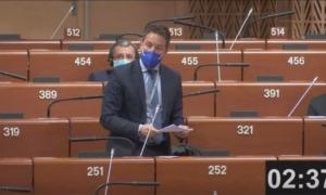 Pere López durant la intervenció de dimarts a la Sessió d'hivern de l'APCE.