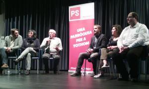 PS+I en la reunió de poble que van celebrar a la sala La Valireta.
