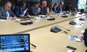 Un moment de la tercera sessió del Fòrum sobre coneixement, innovació i sostenibilitat.