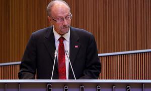 El parlamentari de SDP, Víctor Naudi, en una sessió del Consell General.