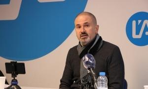Gerard Estrella, durant la compareixença en format telemàtic.