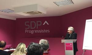 Un moment del consell nacional de Progressistes-SDP de dissabte passat.
