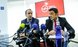 Els cònsols majors de la Massana i Ordino, David Baró i Josep Àngel Mortés.