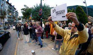 Unes 150 persones protesten per l'empresonament dels 'Jordis'