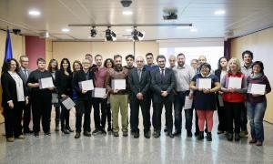 Els participants a la segona edició del curs van rebre ahir el seu diploma.